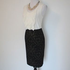 HALOGEN Size 4 Skirt Black & Brown bronze